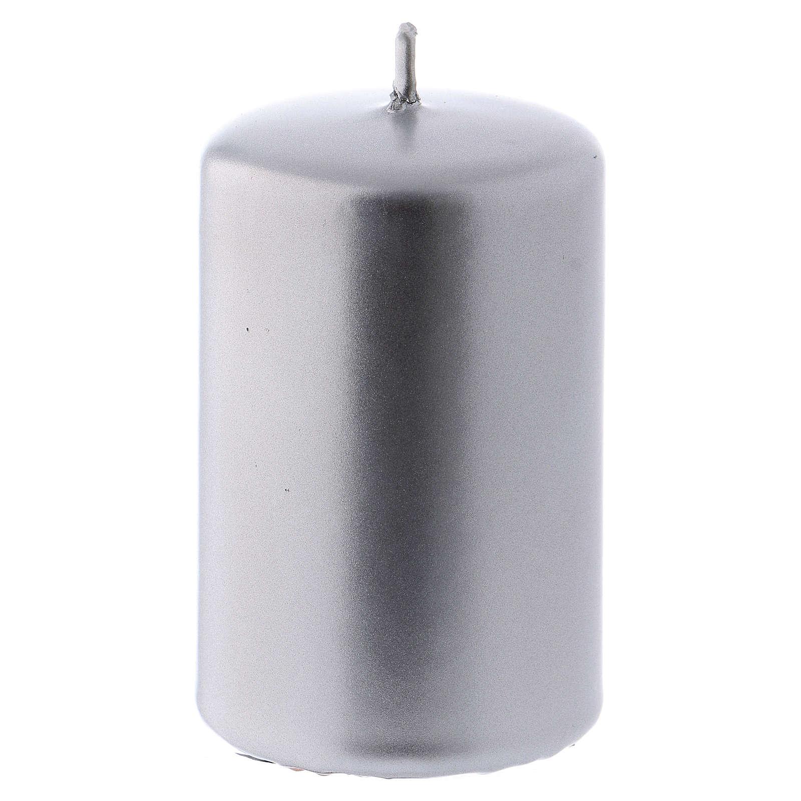 Bougie Noël métal argent Ceralacca 5x8 cm 3