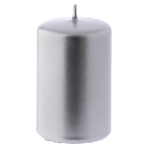 Bougie Noël métal argent Ceralacca 5x8 cm 1