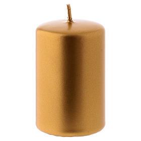 Weihnachtskerze Siegellack 5x8cm goldenfarbig s1