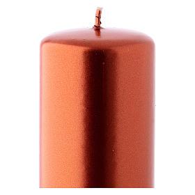 Bougie Noël couleur cuivre Ceralacca 6x15 cm s2
