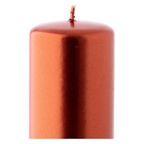 Świeca Boże Narodzenie kolor miedziany Ceralacca 6x15 cm 2