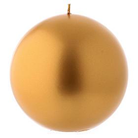 Bougie de Noël sphère couleur or Ceralacca diam. 15 cm s1