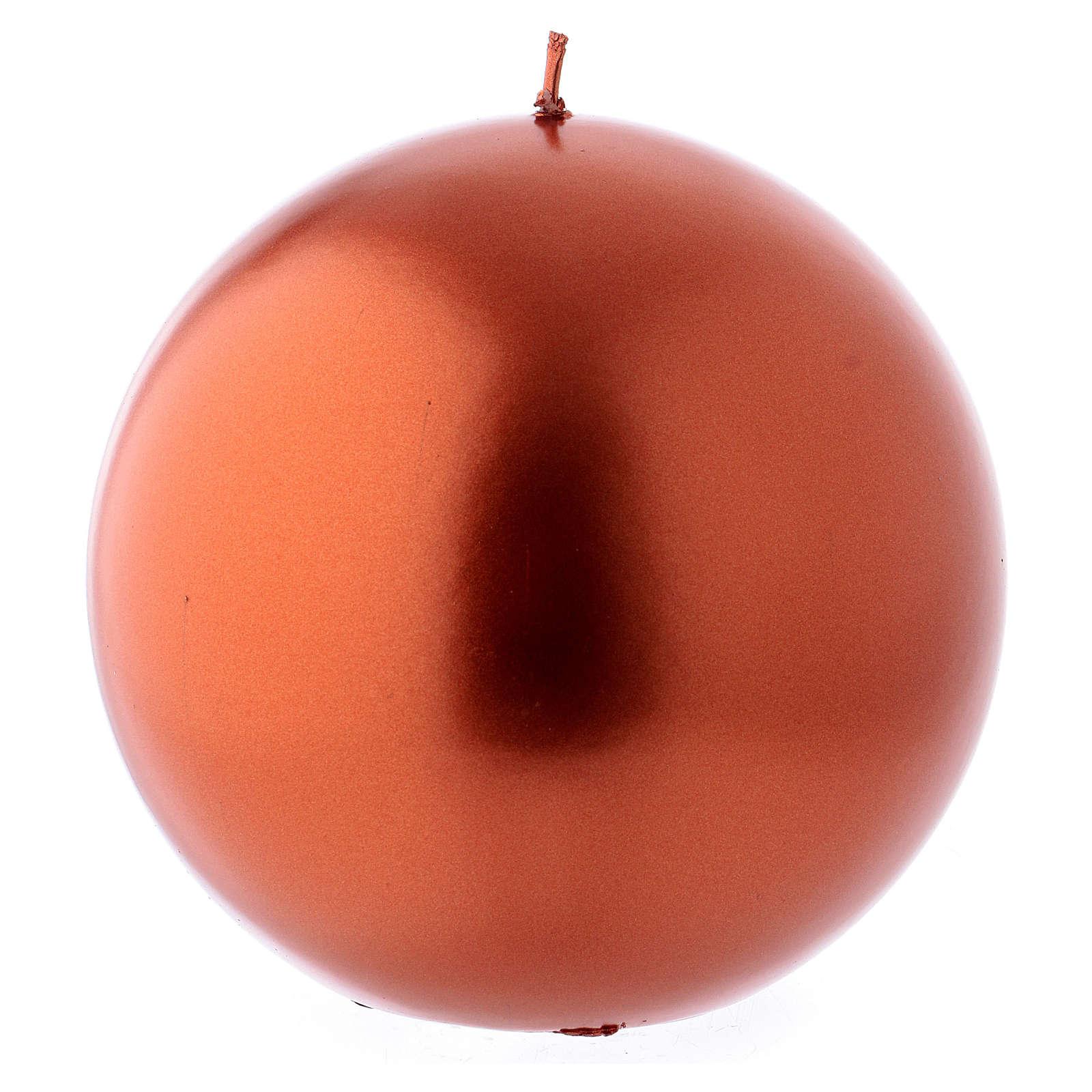 Bougie de Noël sphère couleur cuivre Ceralacca diam. 15 cm 3