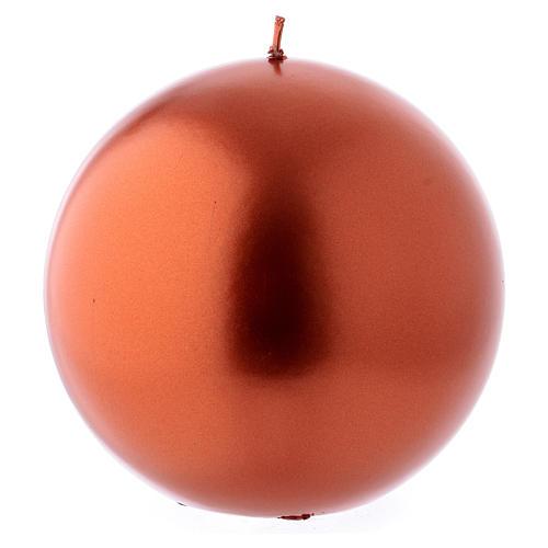 Bougie de Noël sphère couleur cuivre Ceralacca diam. 15 cm 1