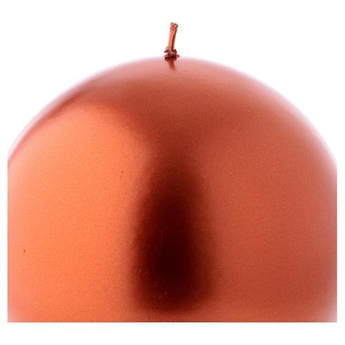 Bougie de Noël sphère couleur cuivre Ceralacca diam. 15 cm 2