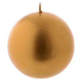 Bougie de Noël sphère or Ceralacca diam. 8 cm s1