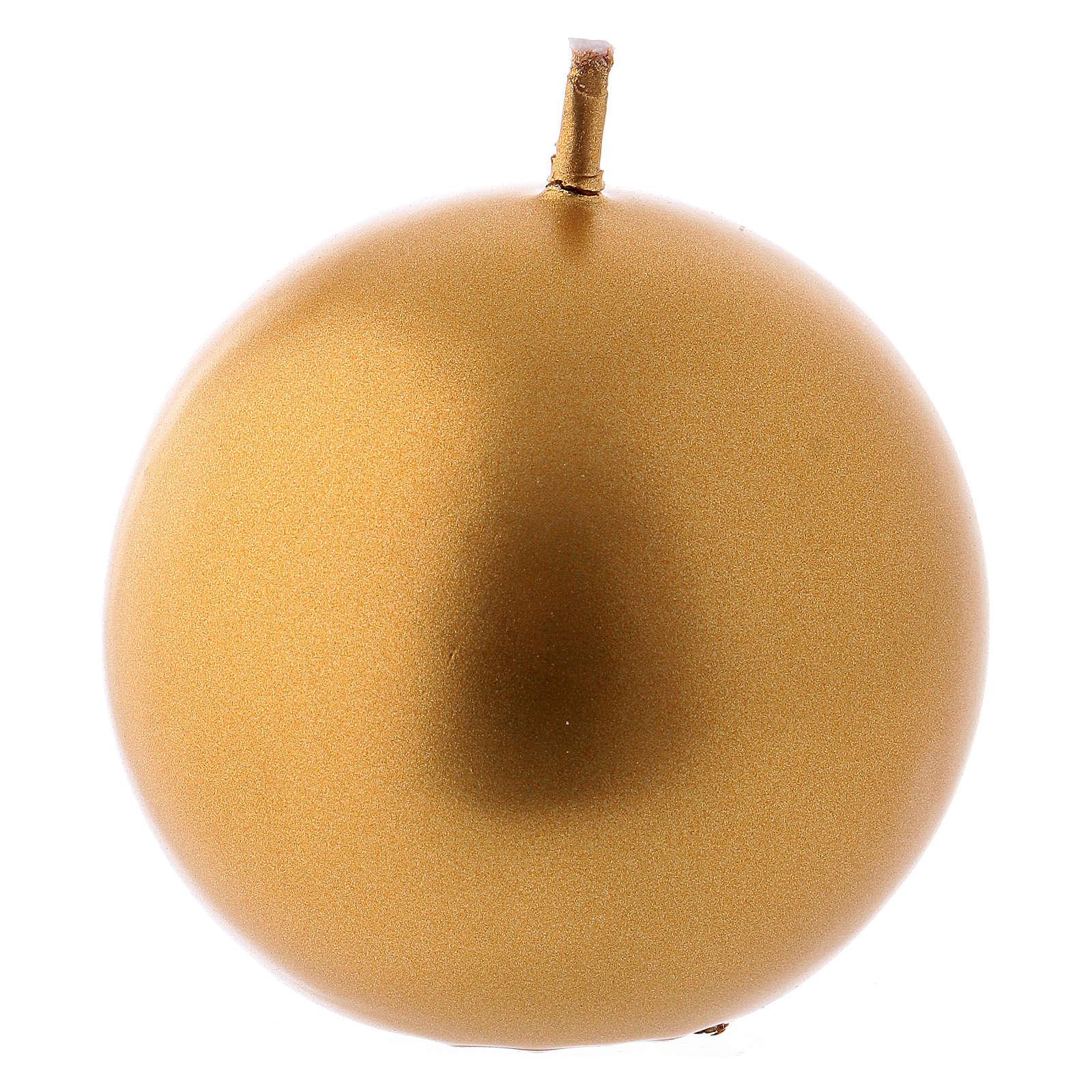 Candela di Natale sfera Ceralacca oro d. 6 cm 3