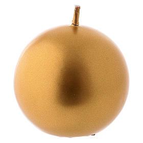 Velas de Natal: Vela Natal esfera Ceralacca dourada d. 6 cm