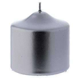 Velas de Natal: Vela de Natal Ceralacca 8x8 cm cor prata