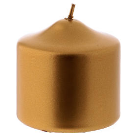 Velas de Natal: Vela de Natal Ceralacca 8x8 cm cor ouro