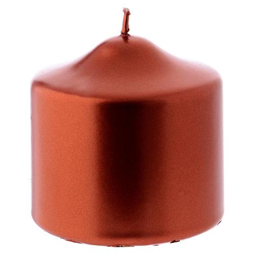 Weihanchtskerze Siegellack 8x8cm kupferfarbig 1
