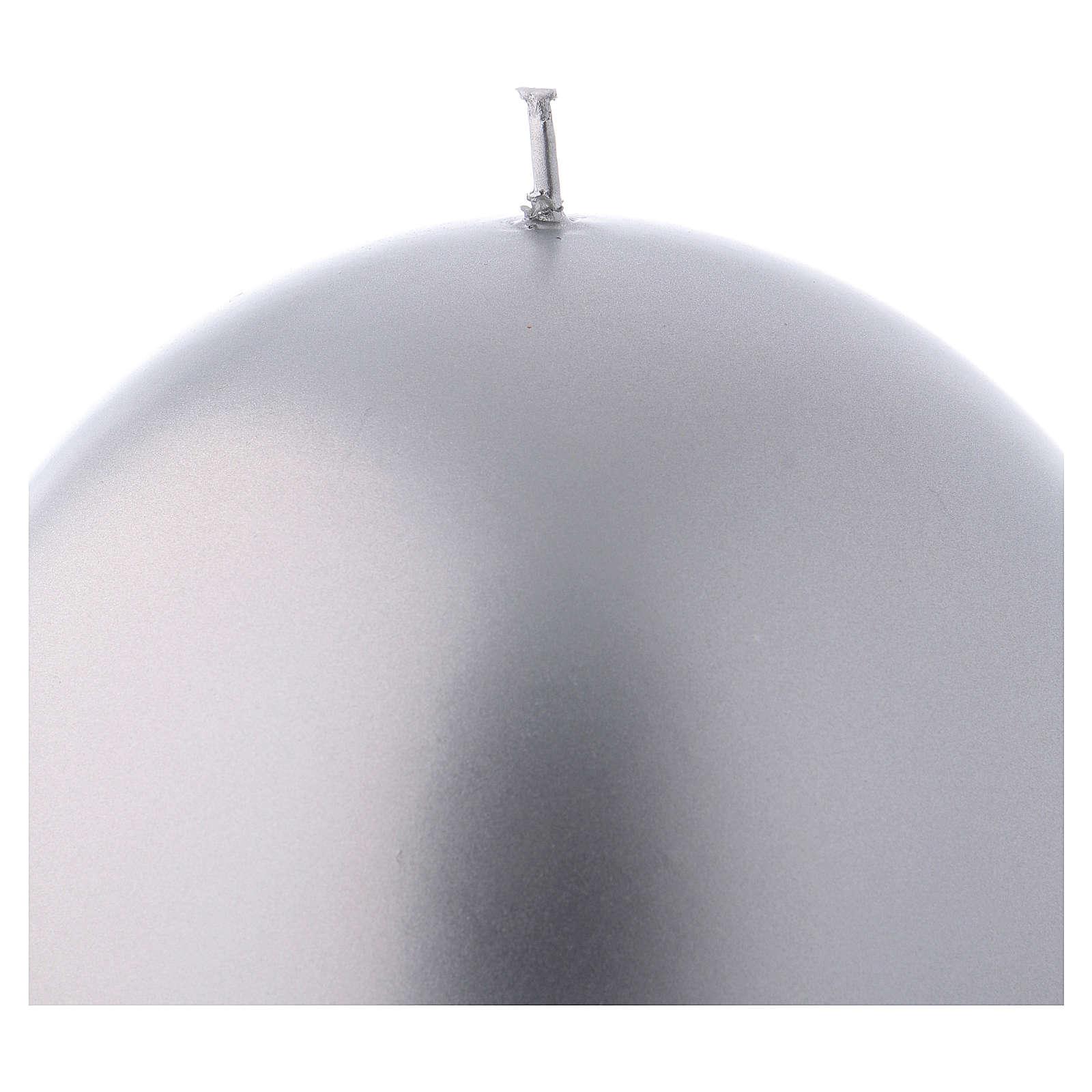 Bougie Noël sphère Ceralacca métal diam. 12 cm argent 3