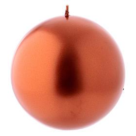 Velas de Natal: Vela Natal esfera Ceralacca metal 12 cm cobre