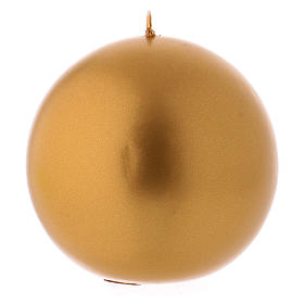 Gold Christmas Sphere Candle, Ceralacca d. 10 cm s1
