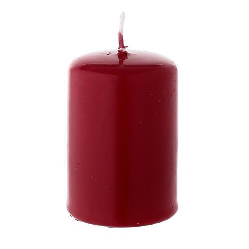 Rote Weihnachtskerze Siegelwachs Zylinderform, 60x40 mm 2