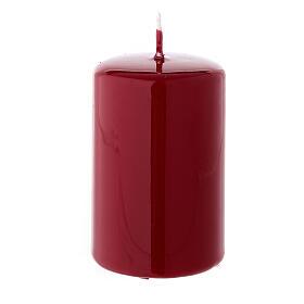 Bougie de Noël cylindre 80x50 mm cire à cacheter rouge foncé s1