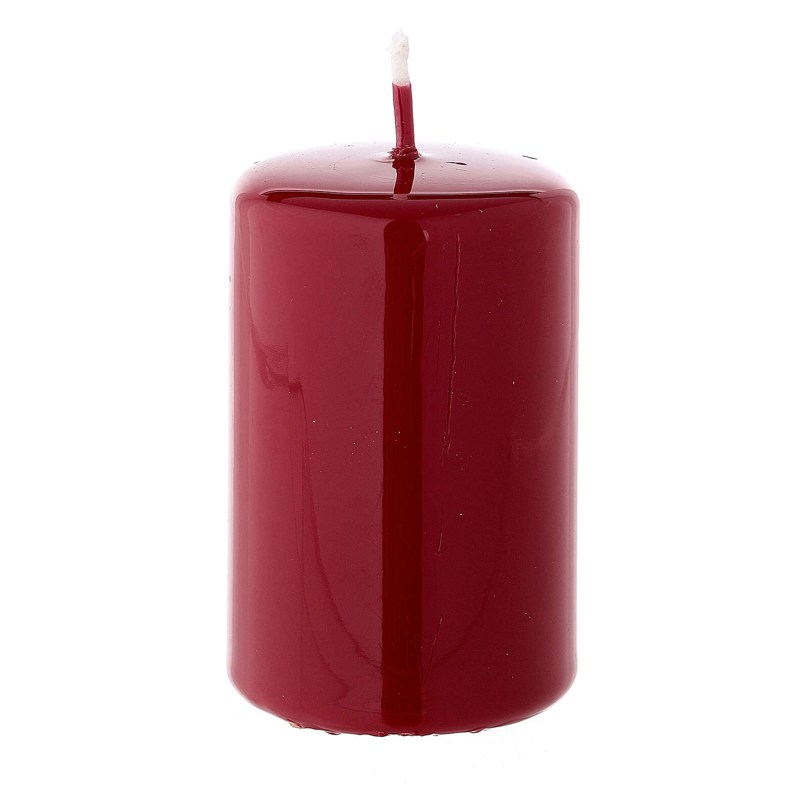 Candelotto di Natale cilindrico 80x50 mm ceralacca rosso scuro 3