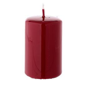 Candelotto di Natale cilindrico 80x50 mm ceralacca rosso scuro s2