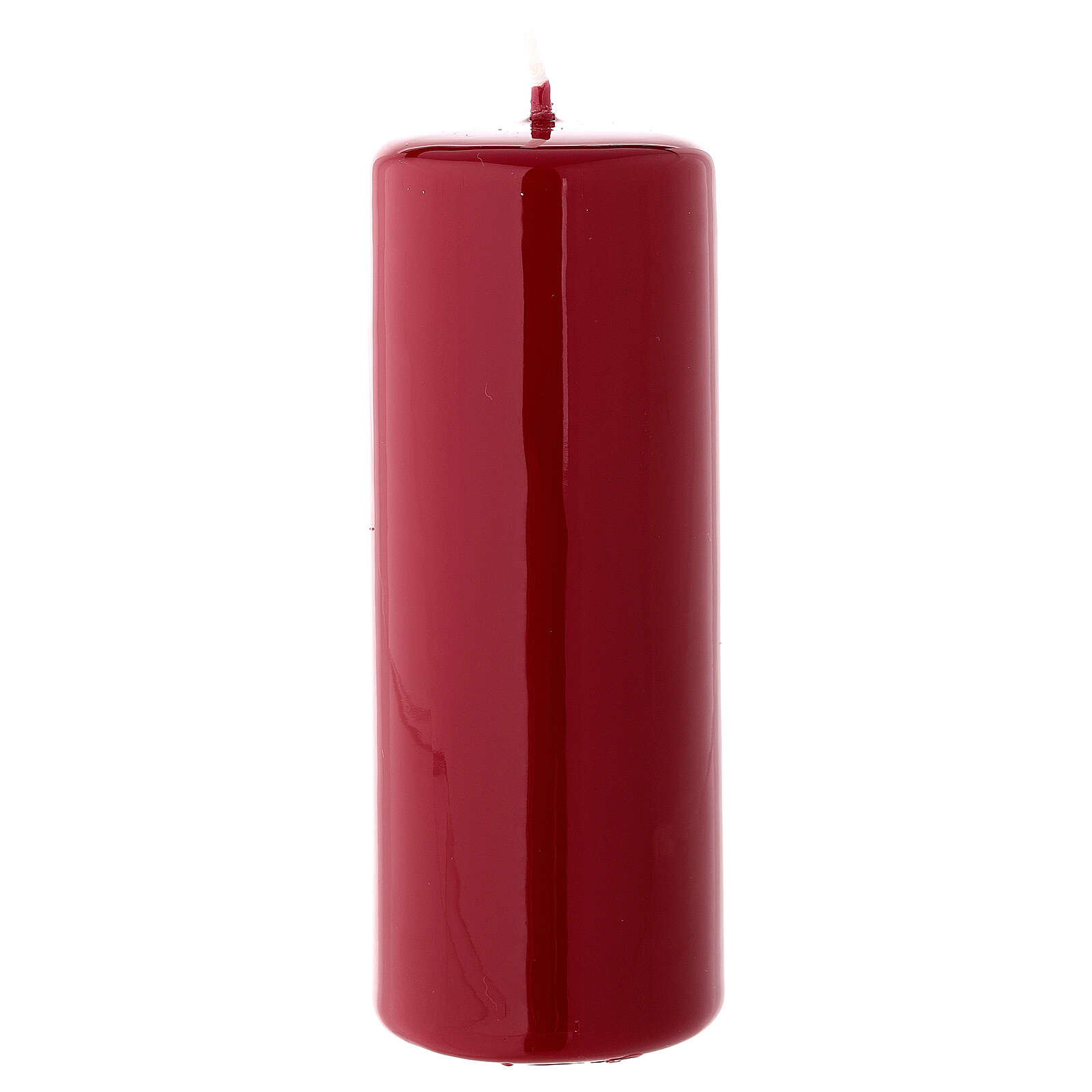 Candela di Natale cilindro ceralacca bordeaux 130x50 mm 3