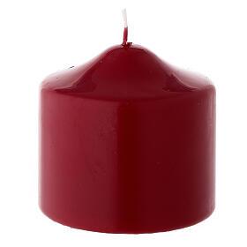 Vela Navidad de punta lacre opaco rojo oscuro 80x80 mm s1