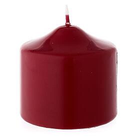 Bougie de Noël pointue cire à cacheter matte rouge foncé 80x80 mm s2