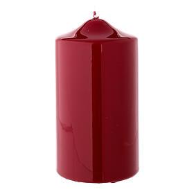 Vela navideña rojo oscuro lacre cilindro 150x80 mm s2