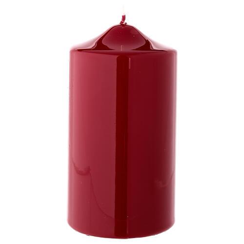 Vela navideña rojo oscuro lacre cilindro 150x80 mm 1