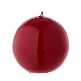 Vela de Navidad rojo lúcido esfera lacre 6 cm s2