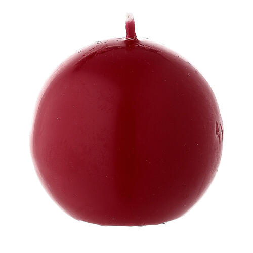 Matte dark red Christma candle 60 mm 1