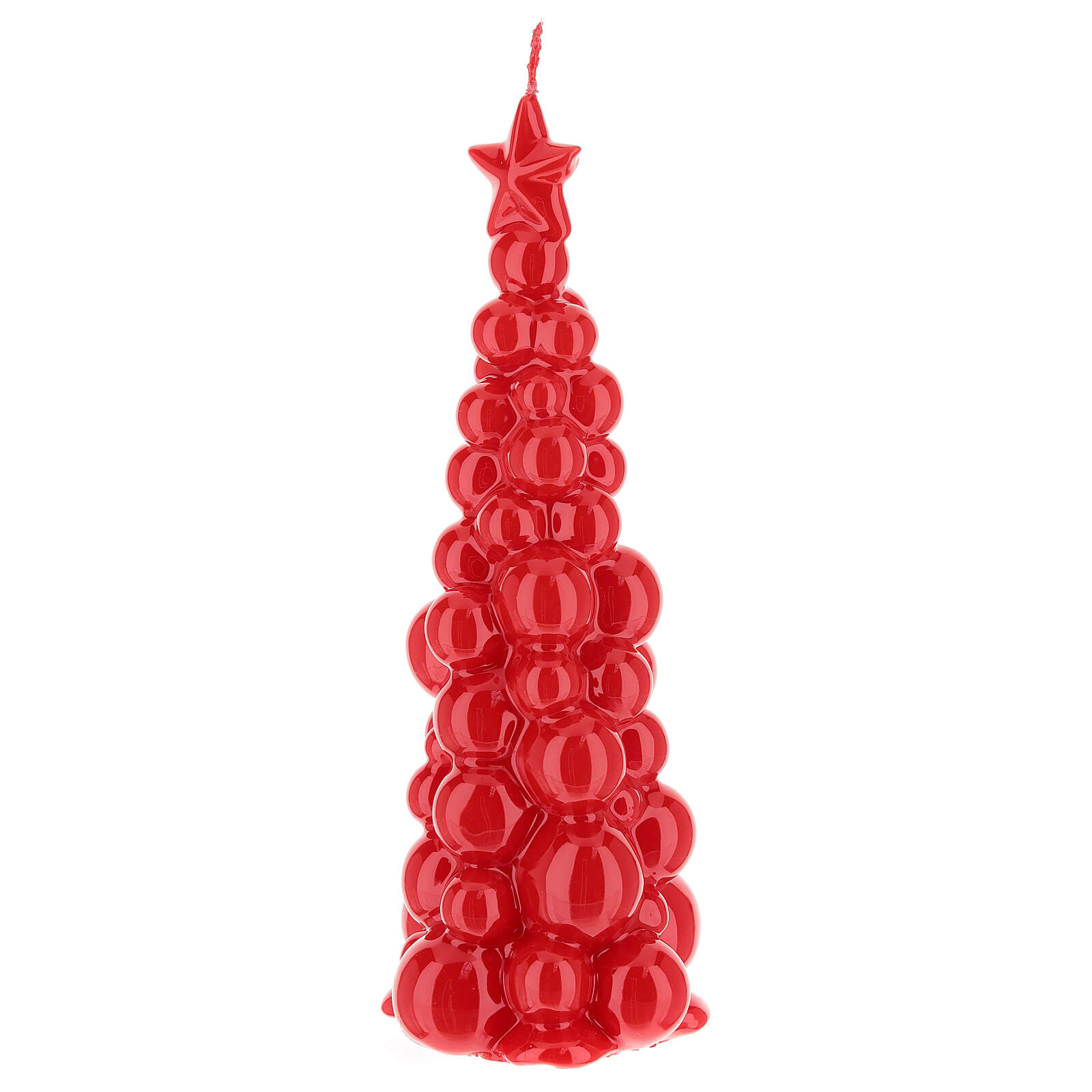 Christmas candle red tree Moscow 8 in 3