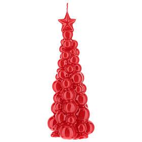 Candela natalizia albero Mosca rosso 21 cm s1