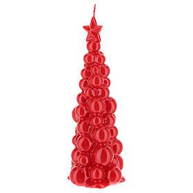 Candela natalizia albero Mosca rosso 21 cm s2