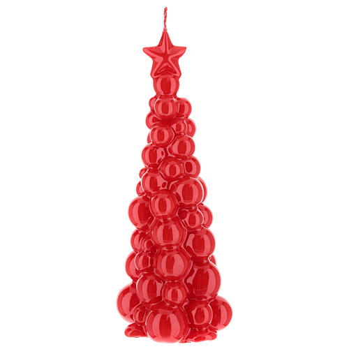 Christmas candle red tree Moscow 8 in 1