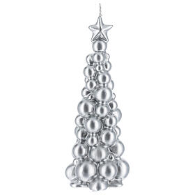 Christmas candle silver tree Moscow 8 in s1