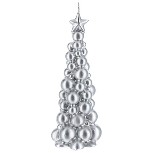 Christmas candle silver tree Moscow 8 in 1