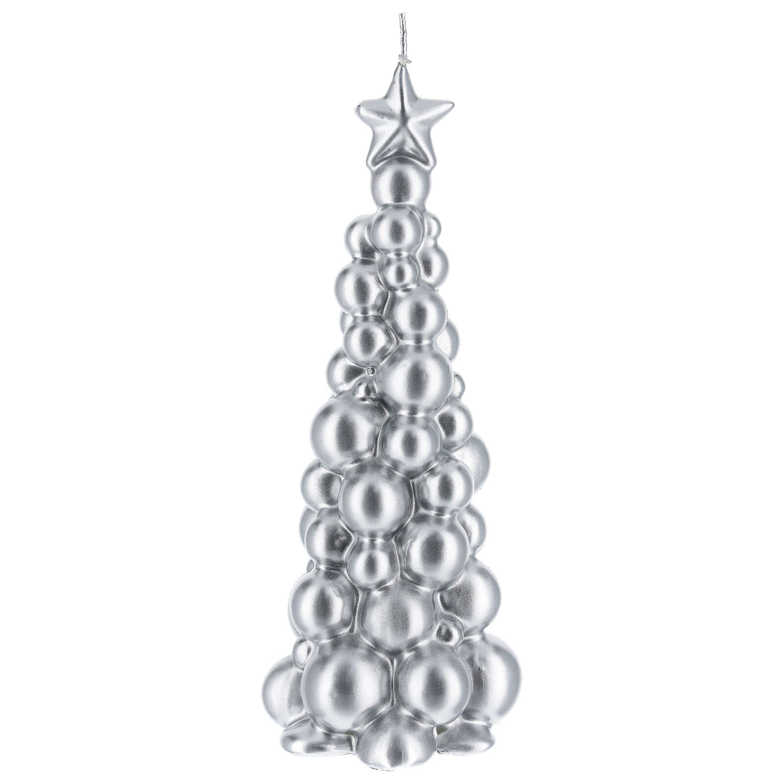 Christmas candle silver tree Moscow 8 in 3