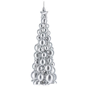 Christmas candle silver tree Moscow 8 in s2