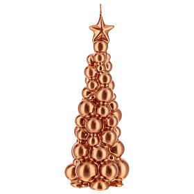 Bougie de Noël sapin Moscou cuivre 21 cm s1