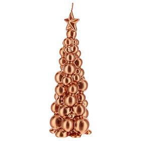 Bougie de Noël sapin Moscou cuivre 21 cm s2