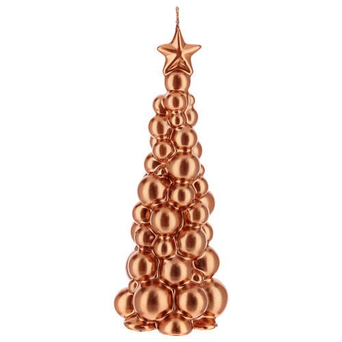 Bougie de Noël sapin Moscou cuivre 21 cm 1