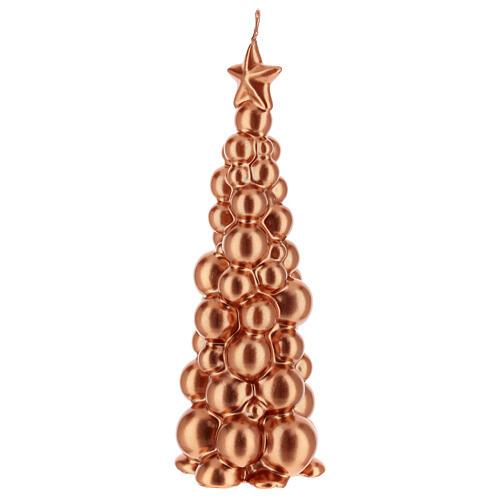 Bougie de Noël sapin Moscou cuivre 21 cm 2
