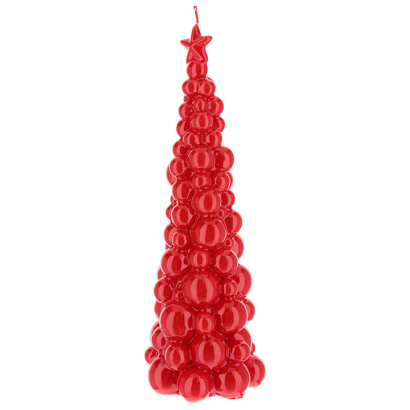 Candela natalizia albero Mosca rosso 30 cm 3