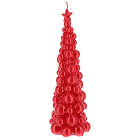 Candela natalizia albero Mosca rosso 30 cm s2
