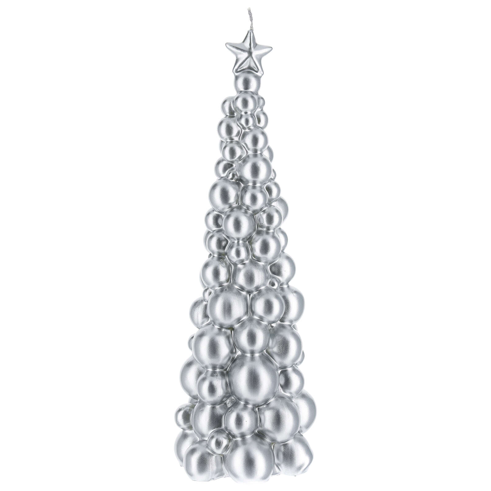 Christmas candle Moscow silver tree 12 in 3