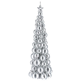 Christmas candle Moscow silver tree 12 in s2