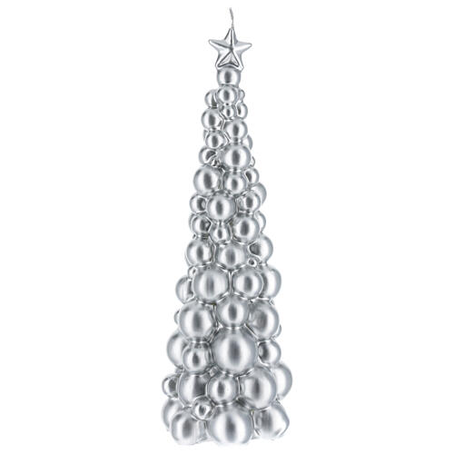 Christmas candle Moscow silver tree 12 in 1