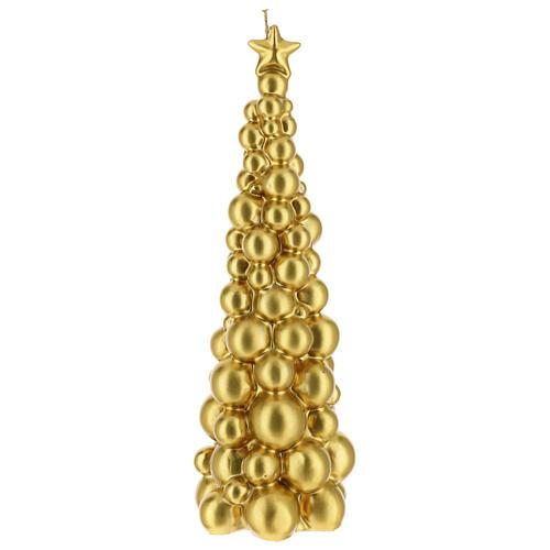 Vela de Natal árvore dourada modelo Moscovo 30 cm 1