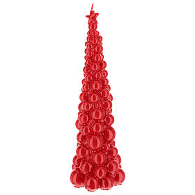 Red christmas tree candle Moscow 47 cm s2