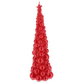 Vela navideña árbol Moscú rojo 47 cm s2