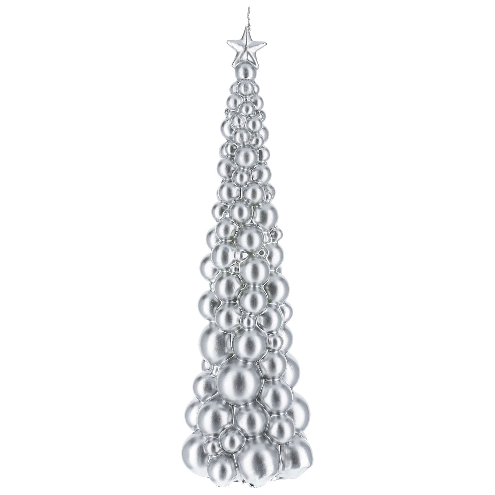 Christmas candle Moscow tree silver finish 18 1/2 in 3
